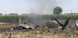 punjab iaf fighter jet mig 29 crashes