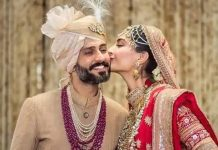 sonam kapoor Shares first pic together with Husband on anniversary