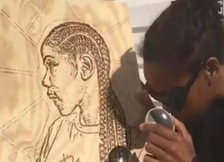 this woman uses the sun to paint