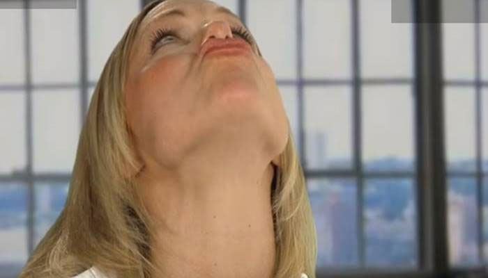 Air Kiss Exercise for Double Chin