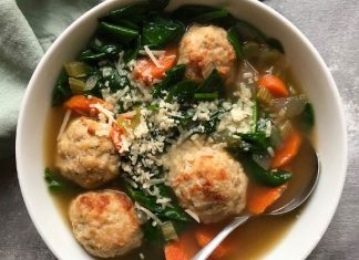 Chicken Balls And Spinach Soup Home Made Recipe