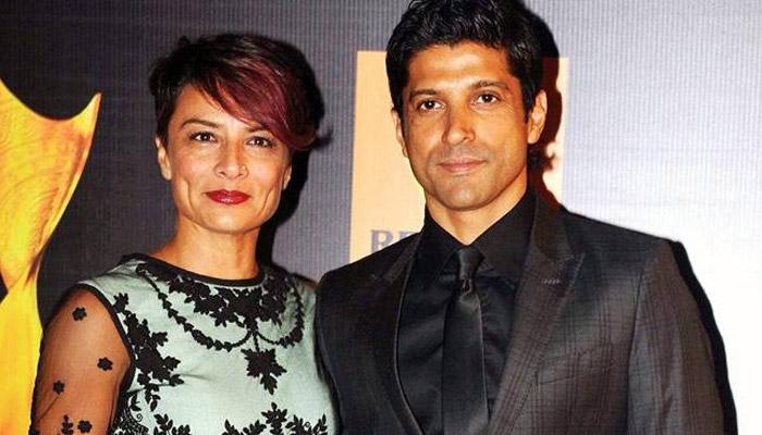 Farhan Akhtar With Wife
