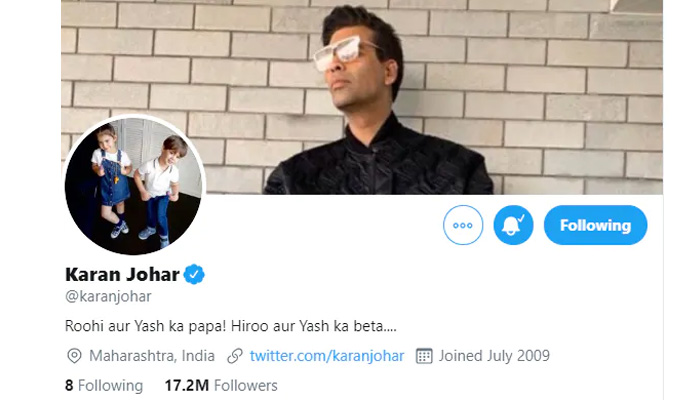 Karan Johar Unfollowed Several Actors on Twitter