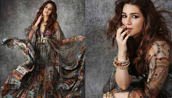 Kriti Sanon One Piece Pinted Outfit