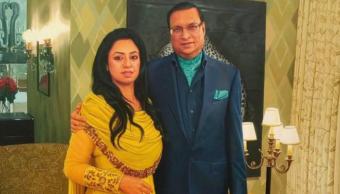 Rajat Sharma With Wife