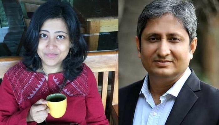 Ravish Kumar With Wife