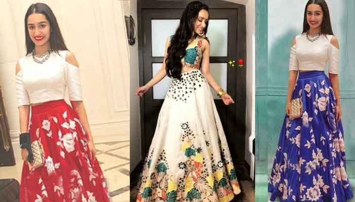 Shraddha Kapoor Floral lehenga Crop Top