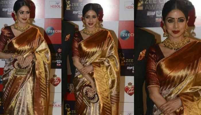 Sridevi Beautyful Chanderi Saree