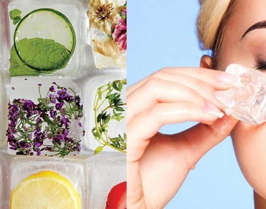 Summer Skin Care, Ice Cubes