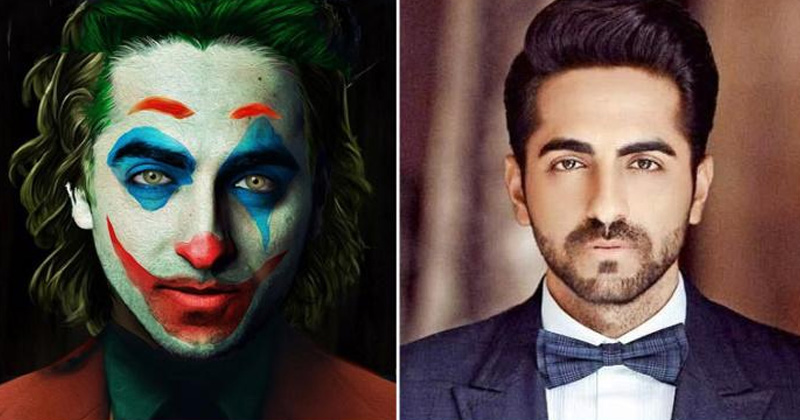 ayushmann khurrana shared photo of joker photo instagram