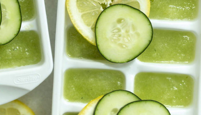 cucumber ice cubes