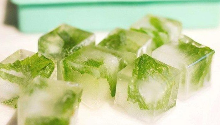 green tea ice cubes
