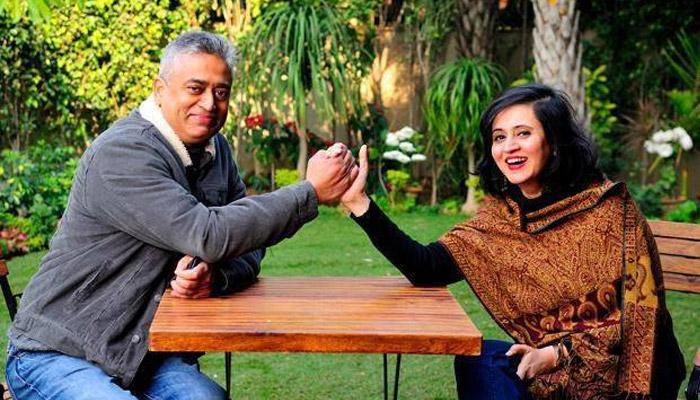 rajdeep sardesai with wife