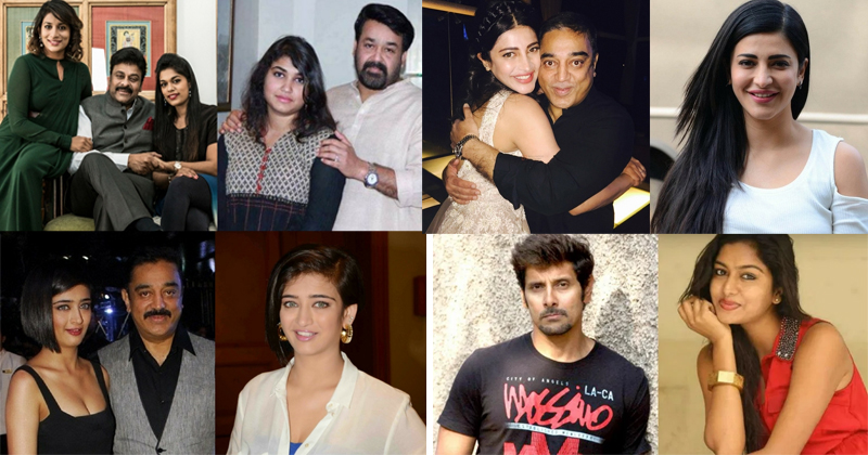 south indian actor's daughters