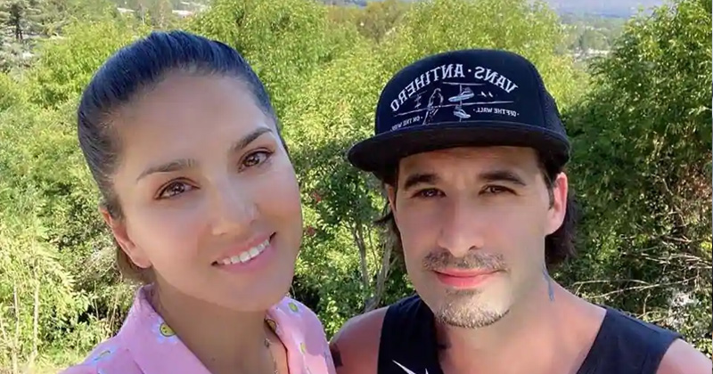 sunny leone enjoys a beautiful day in the neighbourhood
