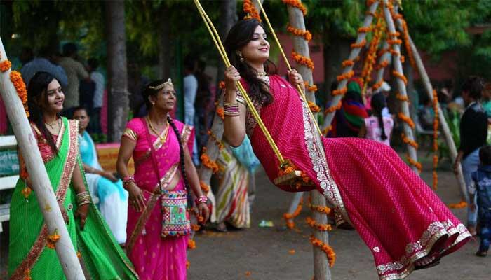 Hariyali Teej festival look at Home