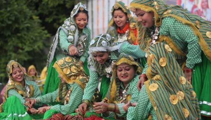 Indian festival Look in Haryali Teej