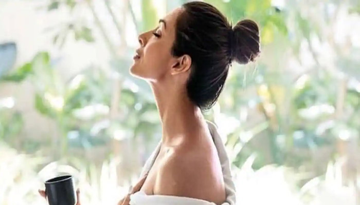 Malaika Arora telling the right way to drink water
