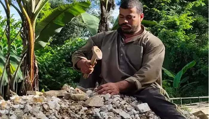 Rajendra Singh Dhami Working as a Labourer