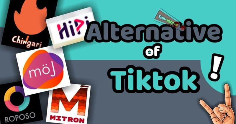 Some Alternative App of TIKTOK in india
