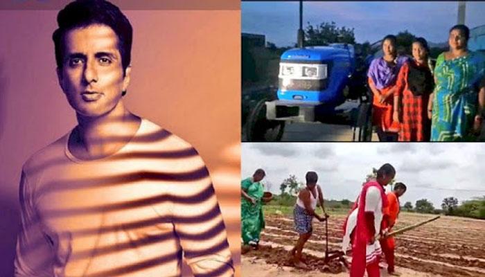 Sonu Sood Gift Tractor to AP Farmer