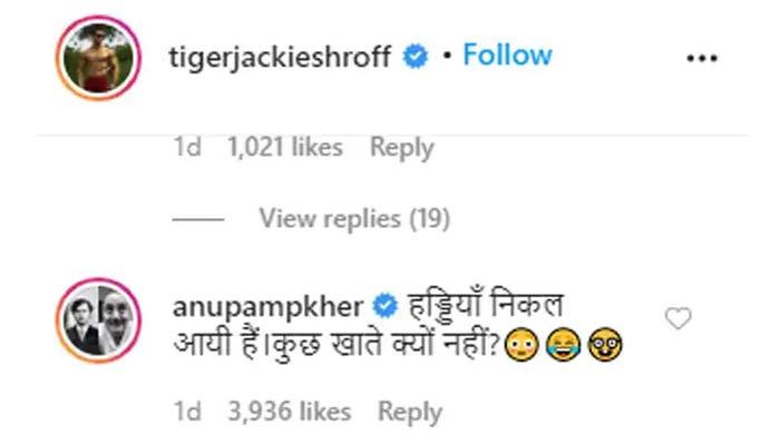 anupam kher troll tiger shroff on picture