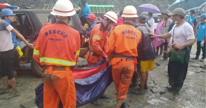 more than 100 dead in jade mine landslide myanmar