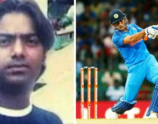 ms dhoni helicopter shot santosh lal