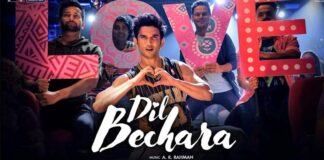 sushant singh rajput last film dil bechara title track song release