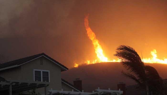Fire Tornado In California