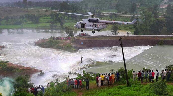 IAF Chopper Rescued a Man