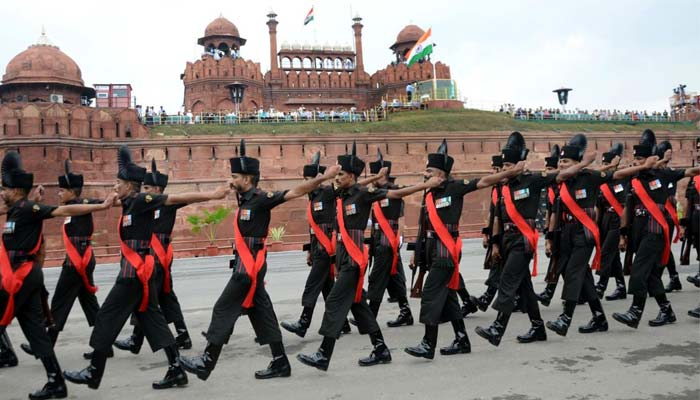Independence Day rehearsal at red fort