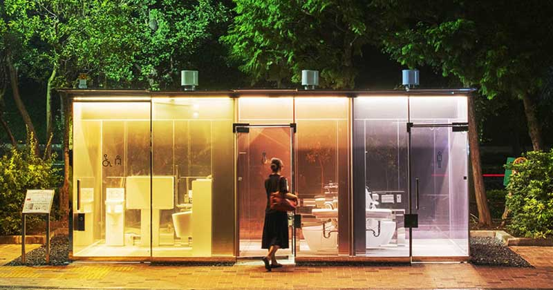 Japan Invent Transparent Public Toilet