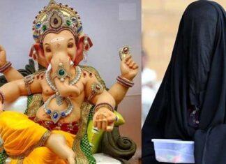 Muslim Woman Breaks Statue Of Ganesha