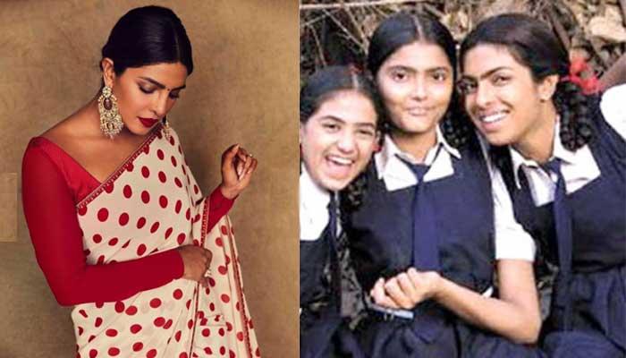 Priyanka Chopra- Bollywood Actresses in Their School Uniform