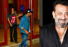 Ranbir Kapoor And Alia Bhatt Arrives At Sanjay Dutt House