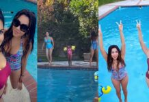 Sunny Leone jumped into Pool Video Goes Viral