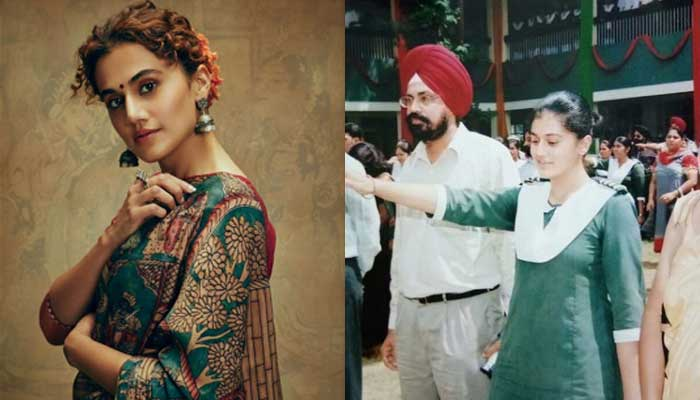 Tapsee Pannu - Bollywood Actresses in Their School Uniform