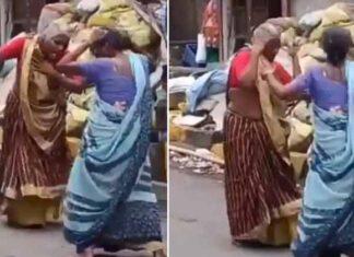Two elderly women dance to Asha Bhosle's hit song