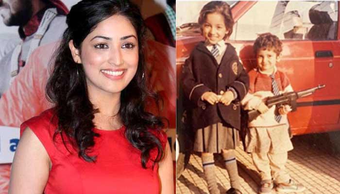 Yami Gautam - Bollywood Actresses in Their School Uniform