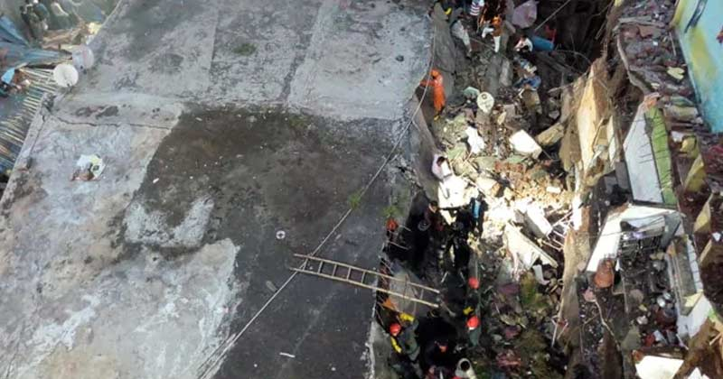 3 Storey Building Collapses In Bhiwandi