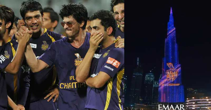 Burj Khalifa Welcome Shah Rukh Khan Team KKR