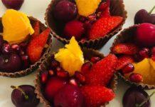 Chocolate Fruit Cups Recipe In Hindi