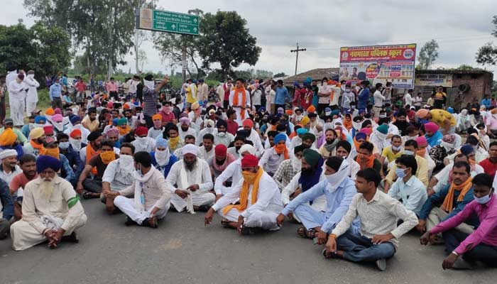 Farmers Protest In Punjab On kisan Bill
