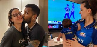 Hardik Pandya Share Cute Picture With His Wife And Baby
