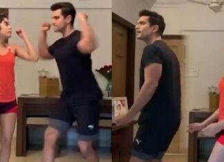 Janhvi Kapoor And Angad Bedi Viral Dance Video
