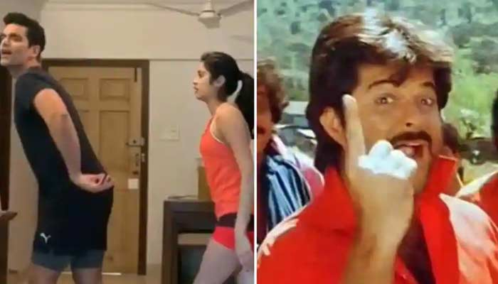 Janhvi Kapoor And Angad Dance On Anil Kapoor Song