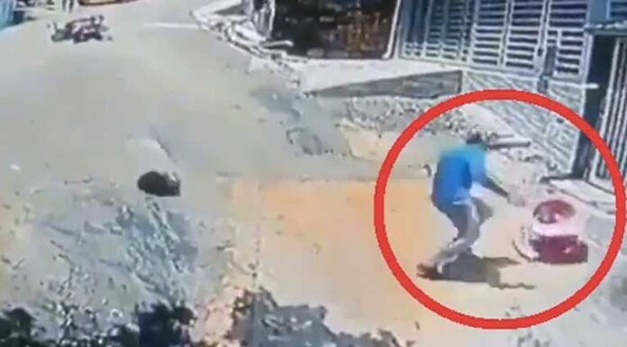 Man Jumps Off Motorcycle Saves Toddler