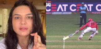 Preity Zinta Angry Reaction On Umpire Short Run Decision