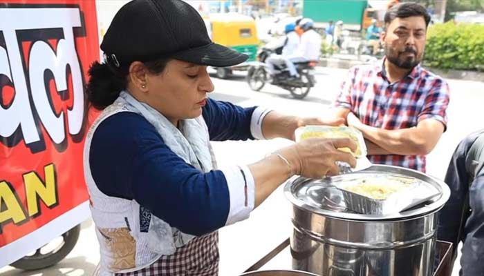 Sarita Serving Rajma Chawal